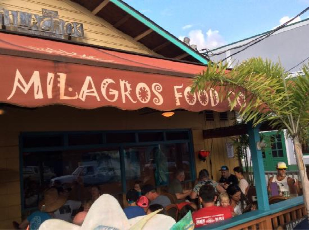 Milagros Tex-Mex in the heart of Paia, HI on Maui