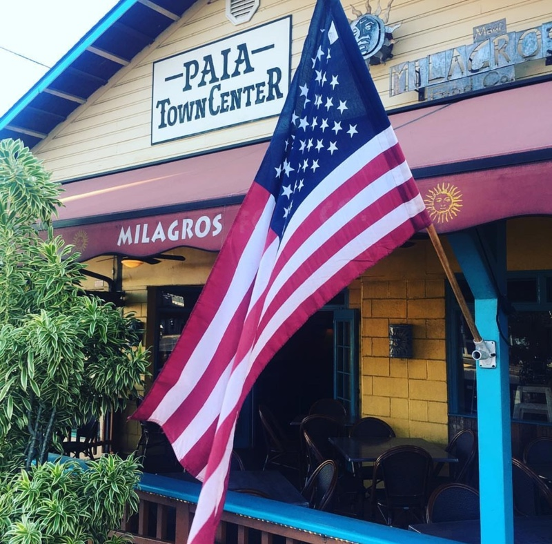 Milagros Mexican Restaurant entrance - Paia, HI